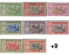 Ref. 596453 * HINGED * - FRENCH INDIA. 1929. BASIC . BASICA - Indien (1892-1954)
