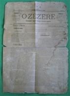 Ferreira Do Zêzere - Jornal O Zezere Nº 1 De Outubro De 1895 - Imprensa. Santarém. - Andere