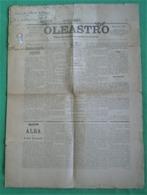Azambuja - Jornal Oleastro De 1892 - Imprensa. Santarém (danificado) - Andere