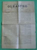 Azambuja - Jornal Oleastro Nº 40 De Setembro De 1892 - Imprensa. Santarém. - Andere