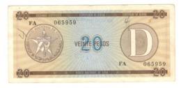 Cuba Foreign Ex. Cert. 20 Pesos D. Used , Graff. See Scan - Cuba