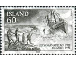 Ref. 101292 * MNH * - ICELAND. 1978. 50th ANNIVERSARY OF ICELAND RESCUE SOCIETY . 50 ANIVERSARIO DE LA SOCIEDAD ISLANDES - Bateaux