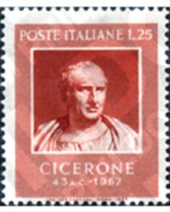 Ref. 130454 * MNH * - ITALY. 1957. 2000th CENTENARY OF THE DEATH OF CICERO . 2000 CENTENARIO DE LA MUERTE DE CICERON - 6. 1946-.. Repubblica