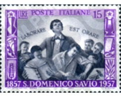 Ref. 130461 * MNH * - ITALY. 1957. CENTENARY OF THE DEATH OF ST. DOMENICO SAVIO . CENTENARIO DE LA MUERTE DE SAN DOMENIC - 1946-60: Mint/hinged
