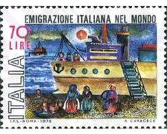 Ref. 131216 * MNH * - ITALY. 1975. ITALIAN EMIGRATION . EMIGRACION ITALIANA - Bateaux