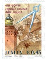 Ref. 139636 * MNH * - ITALY. 2004. GENOA. EUROPEAN CULTURAL CAPITAL TOWN . GENOVA. CAPITAL CULTURAL EUROPEA - 6. 1946-.. Republic
