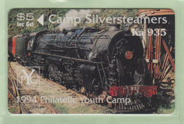 New Zealand - Private Overprint - 1994 Camp Silversteamers - $5 Locomotive - Mint  - NZ-CO-36 - New Zealand