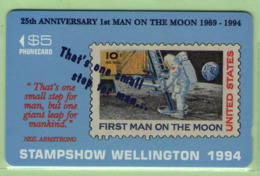 New Zealand - Private Overprint - 1994 Stampshow, Wellington - $5 Man On The Moon - Mint - NZ-CO-31 - New Zealand
