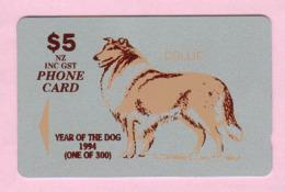 New Zealand - Private Overprint - 1994 Christchurch - $5 Year Of The Dog - Mint - NZ-CO-26a - Nouvelle-Zélande