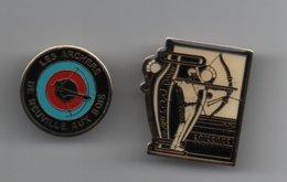 Pin's Tir à L'arc, Archers De Soissons Et De Neuville Aux Bois......BT14 - Boogschieten