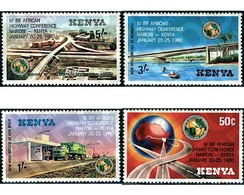 Ref. 42568 * MNH * - KENYA. 1980. 4 CONFERENCIA INTERNACIONAL DE LA FEDERACION DE LAS AUTOPISTAS AFRICANAS - Cars