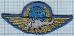 UKRAINE/ Patch Abzeichen Parche Ecusson / Peacekeeping Forces UN. Helicopter Detachment. - Blazoenen (textiel)