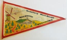 Belgique)  Fanion Touristique RODEBERG MONT ROUGE  MOLENHOF  WESTOUTER - Heuvelland