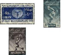 Ref. 73950 * MNH * - LIBAN. 1959. 3rd MEDITERRANEAN GAMES . 3 JUEGOS MEDITERRANEOS - Weightlifting