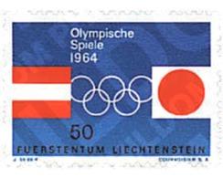 Ref. 80764 * MNH * - LIECHTENSTEIN. 1964. GAMES OF THE XVIII OLYMPIAD. TOKYO 1964. IX OLYMPIC WINTER GAMES. INNSBRUCK 19 - Winter 1964: Innsbruck