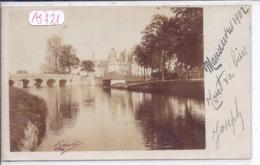 CHAMBORD- CARTE-PHOTO- LE CHATEAU ET LE PONT-SOUVENIR DES MANOEUVRES EN 1902 - Chambord