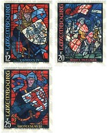 Ref. 97661 * MNH * - LUXEMBOURG. 1989. STAINED GLASS WINDOWS. LUXEMBOURG HISTORY . VIDRIERAS. HISTORIA DE LUXEMBURGO - Luxemburgo