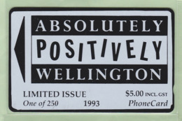 New Zealand - Private Overprint - 1993 Absolutely Positively Wellington $5 - Mint - NZ-CO-18 - New Zealand