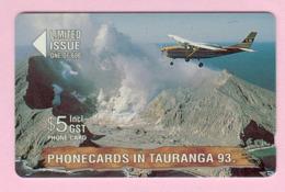 New Zealand - Private Overprint - 1993 Phonecards In Tauranga $5 White Island - Mint - NZ-CO-17 - New Zealand