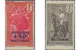 Ref. 28878 * MNH * - MADAGASCAR. 1942. HORSES . CABALLOS - Ongebruikt