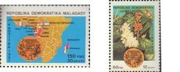 Ref. 594904 * MNH * - MADAGASCAR. 1987. 25 ANIVERSARIO DE LA ORGANIZACION AFRICANA DEL CAFE - Madagascar (1960-...)
