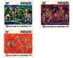 Ref. 50414 * MNH * - MALAYSIA. 1971. 6th SOUTH EAST ASIA GAMES . 6 JUEGOS DEPORTIVOS DEL SUD-ESTE ASIATICO. - Hockey (Field)