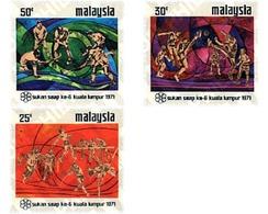 Ref. 50414 * MNH * - MALAYSIA. 1971. 6th SOUTH EAST ASIA GAMES . 6 JUEGOS DEPORTIVOS DEL SUD-ESTE ASIATICO. - Rasenhockey