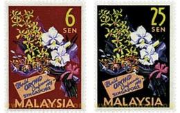 Ref. 219545 * HINGED * - MALAYSIA. 1963. 4th WORLD SINGAPORE ORCHIDS CONFERENCE . 4 CONFERENCIA MUNDIAL DE LA ORQUIDEA E - Gran Bretaña (antiguas Colonias Y Protectorados)