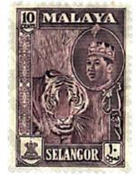 Ref. 340245 * MNH * - MALAYSIA. SELANGOR. 1961. BASIC SET . SERIE BASICA - Selangor