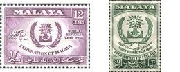 Ref. 231029 * MNH * - MALAYA. 1960. WORLD YEAR OF THE REFUGEE . AÑO MUNDIAL DEL REFUGIADO - Malayan Postal Union