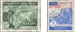 Ref. 231032 * MNH * - MALAYA. 1958. 10th ANNIVERSARY OF  DECLARATION OF THE RIGHTS OF MEN . 10 ANIVERSARIO DE LA DECLARA - Malayan Postal Union