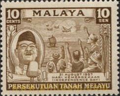 Ref. 340053 * MNH * - MALAYA. 1957. INDEPENDENCE . INDEPENDENCIA - Malayan Postal Union