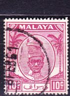 Malaiische Staaten V - Kedah - Sultan Tengku Badlishah (MiNr: 69) 1950 - Gest Used Obl - Kedah