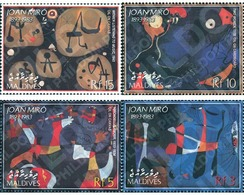 Ref. 128066 * MNH * - MALDIVES. 2003. TRIBUTE TO JOAN MIRO . HOMENAJE A JOAN MIRO - Unclassified