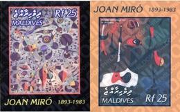 Ref. 128068 * MNH * - MALDIVES. 2003. TRIBUTE TO JOAN MIRO . HOMENAJE A JOAN MIRO - Unclassified