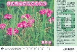 JAPAN - IO Karte -  Blumen--siehe Scan - Fleurs