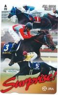 JAPAN - Prepaidkarte - Pferde  - Siehe Scan - Pferde