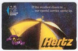 New Zealand - Private Overprint - 1992 Hertz Rental Cars #5 - $5 Umbrella - Mint - NZ-CO-06 - New Zealand