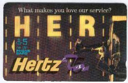 New Zealand - Private Overprint - 1992 Hertz Rental Cars #3 - $5 Lanes - Mint - NZ-CO-04 - New Zealand