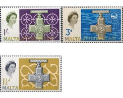 Ref. 163800 * MNH * - MALTA. 1961. LA CRUZ DE ELISABETH II - Malta (...-1964)