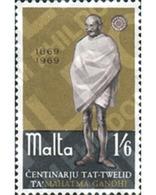 Ref. 163893 * MNH * - MALTA. 1969. CENTENARIO DEL NACIMIENTO DE GANDHI (1869-1948) - Mahatma Gandhi