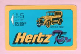 New Zealand - Private Overprint - 1992 Hertz Rental Cars #2 $5 - Mint - NZ-CO-03 - New Zealand