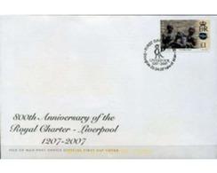 Ref. 207753 * MNH * - ISLE OF MAN. 2007. 800th ANNIVERSARY OF ROYAL CHARTER-LIVERPOOL . 800 ANIVERSARIO ROYAL CHARTER - - Fotografía
