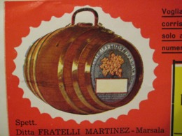 BUSTA E DEPLIANT MARSALA FRATELLI MARTINEZ - Pubblicitari