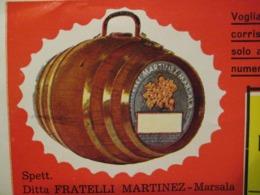 BUSTA E DEPLIANT MARSALA FRATELLI MARTINEZ - Advertising