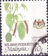 Malaiische Staaten V - Schwarzer Pfeffer (Piper Nigrum) (MiNr: 18 A) 1986 - Gest Used Obl - Malayan Postal Union