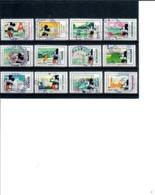 Yt 1582-2 A 1593 Serie Mickey-cachet Rond - Frankreich