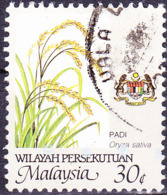 Malaiische Staaten V - Reis (Oryza Sativa) (MiNr: 21 A) 1986 - Gest Used Obl - Malayan Postal Union