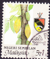 Malaiische Staaten V - Negri Sembilan - Kakao (Theobroma Cacao) (MiNr: 111 A) 1986 - Gest Used Obl - Negri Sembilan