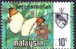 Malaiische Staaten V - Negri Sembilan - Schmetterling (Hebomoia Glaucippe Aturia) (MiNr: 92) 1971 - Gest Used Obl - Negri Sembilan